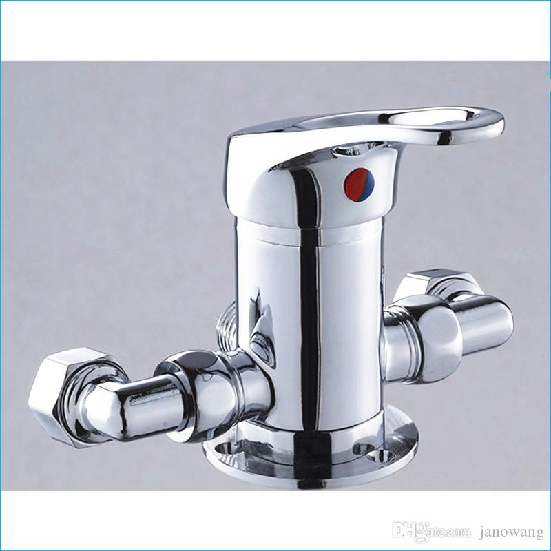 brass Solar mixing valve,All copper shower faucet,Wall Mount Hot and cold mixer tap,J15629