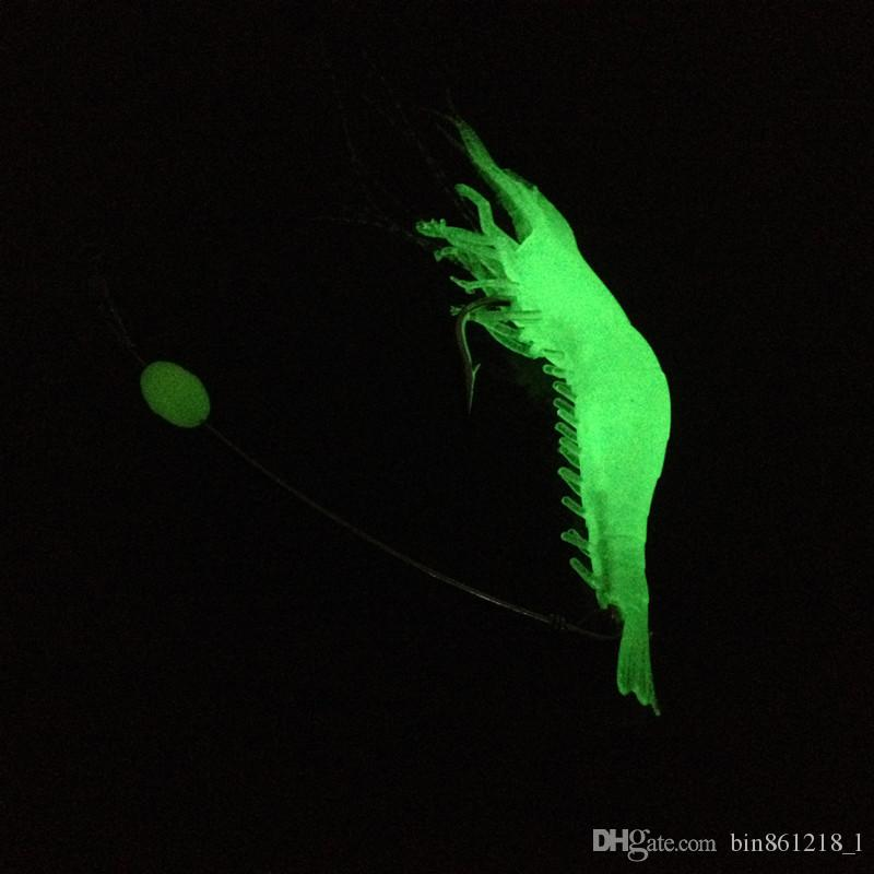 9cm 5.5g All Luminous Shrimp Hook Fishing Hooks Fishhooks Soft Baits & Lures Artificial Bait Pesca Fishing Tackle Accessories