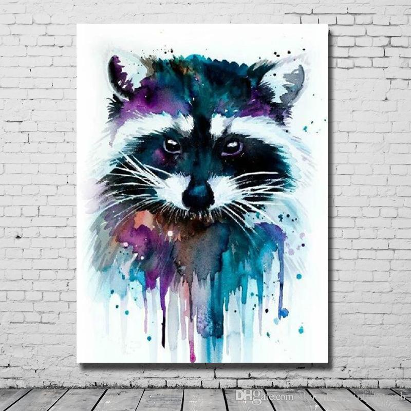 2017 Hand Made Cat Pictures Modern Abstract Acrylic Paintings