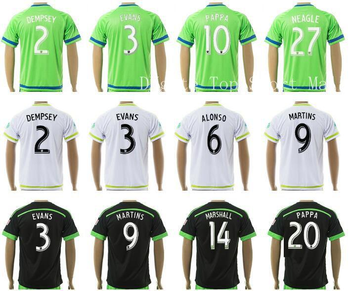 brand new 78687 14f21 seattle sounders 2 clint dempsey home mens adults 2016 2017 ...