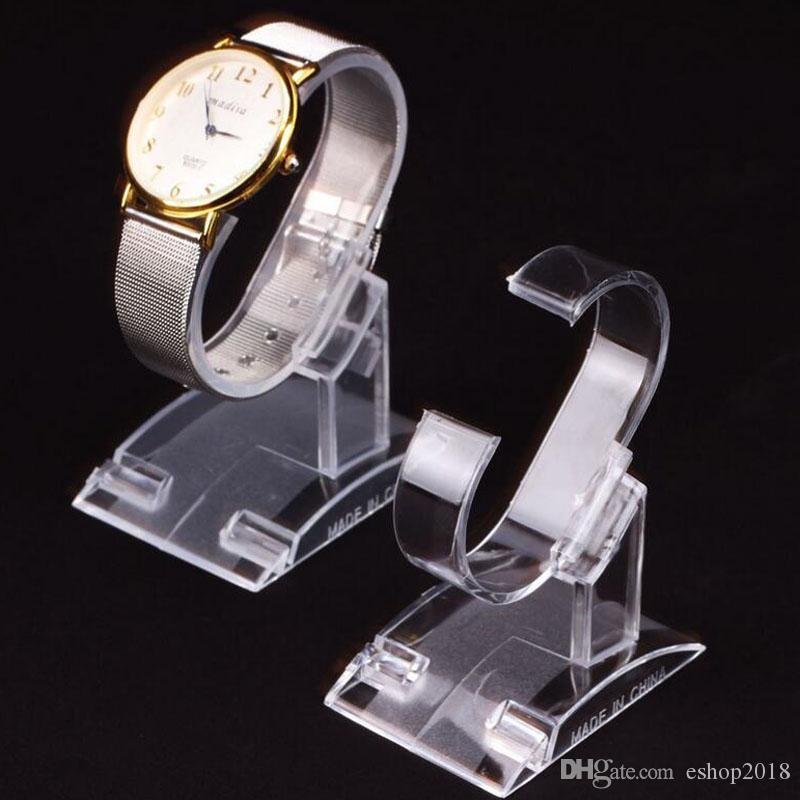2016 nuovi Commercio all'ingrosso - plastica display dell'orologio stare Orologi Display Rack Holder Stand acrilico staffa ripiano estraibile