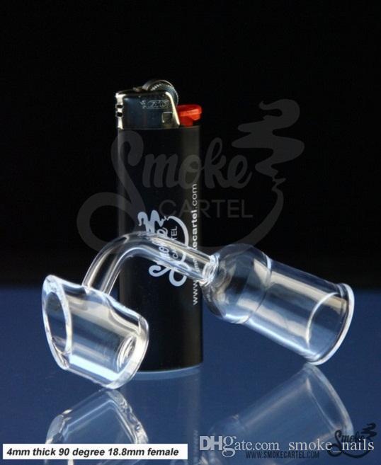 DabWorthy Kalın Tarzı Kuvars Banger 4mm kalınlığı kulübü banger domeless kuvars tırnak 10mm / 14.5mm / 18.8mm erkek / kadın, bong su boruları