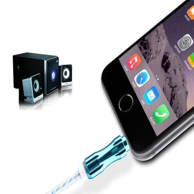 1 M Ses Kablosu Crytal Örgülü Dokuma 3.5mm AUX Yardımcı Genişleme Alüminyum Alaşım Kordon Erkek için iphone iphone Samsung Hoparlör MP3 cab203