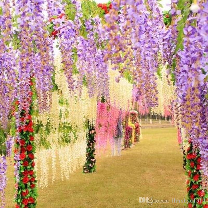 35 Best Wisteria Lodge Images On Pinterest: Best / Wedding Decoration Silk Flower Garland Artificial