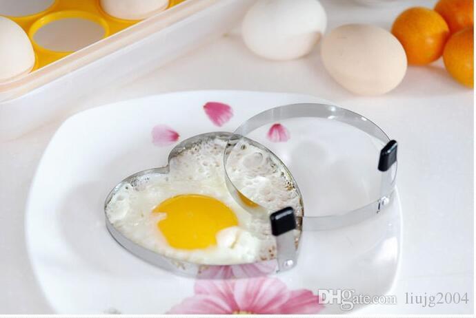 Cook Fried Egg Pancake Stainless Steel Heart Shaper Mould Mold Kitchen Tool RingsHeart Shape Egg Mold Styling Tools Ferramentas