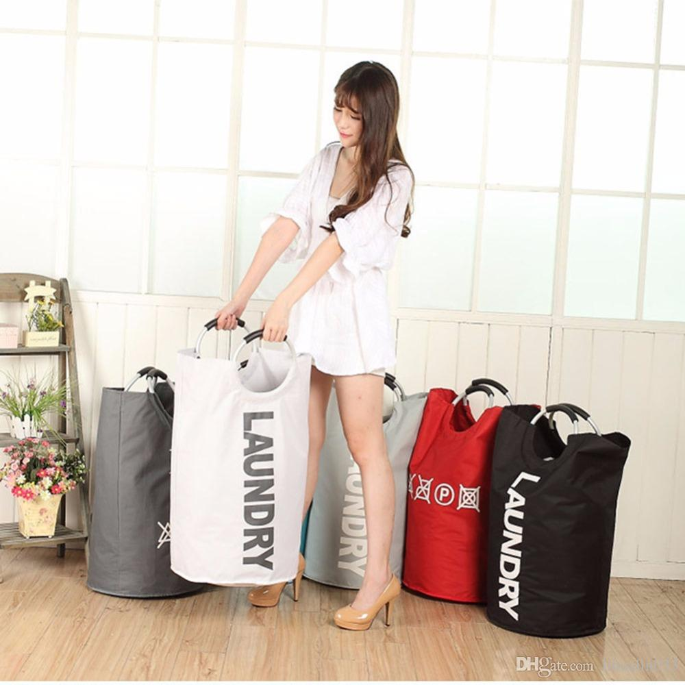 Portable Folding Laundry Basket Laundry Bag Laundry Hamper Basket For Toys Clothes Portable Clothing Storage Bag