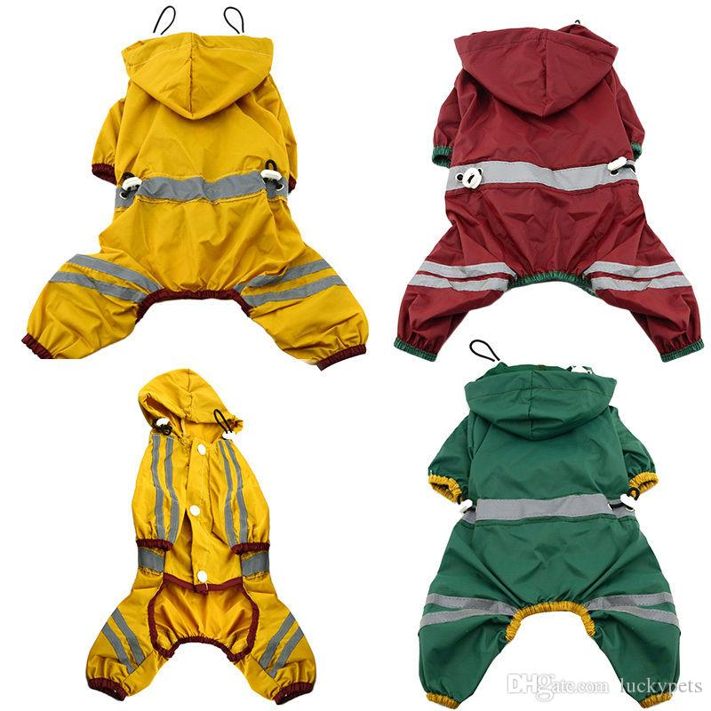 Teddy Pets Rain Coat For Small Puppy Dogs Jacket Cute Casual Waterproof Dog Clothes Pet Supplies 160919