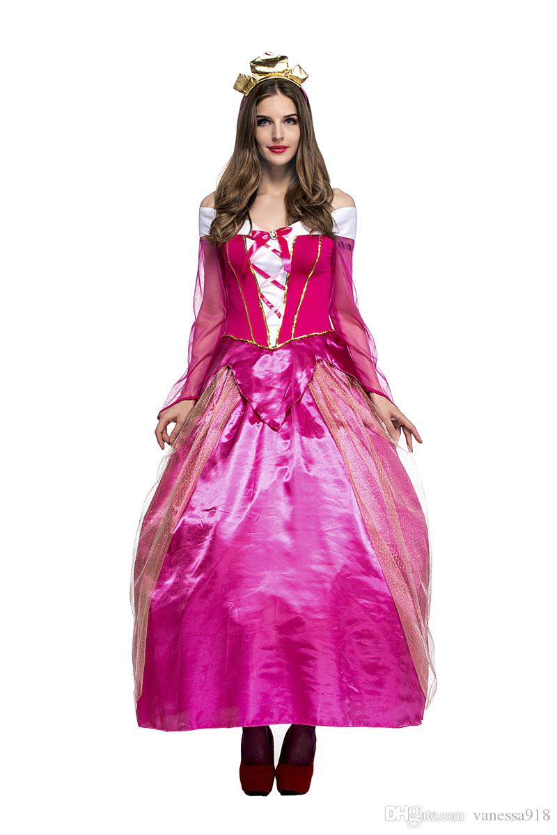 Costumes Princess Dresses Adult Fancy Cosplay Halloween Costume for Women Fantasias Dress woman with free gift bag PS031