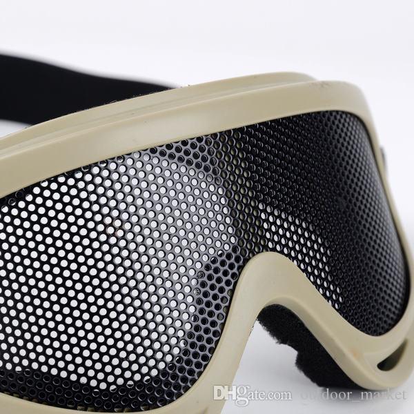NEW 사냥 서바이벌 전술 눈 보호 금속 메쉬 핀홀 안경 고글