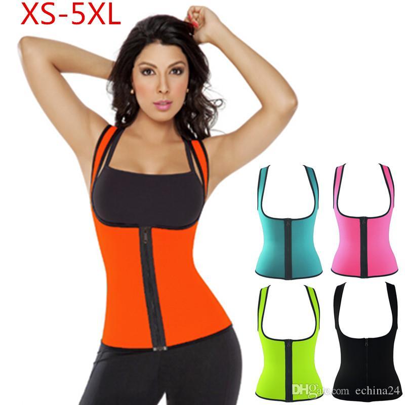 2018 xs 5xl plus size women sweat enhancing waist training corset