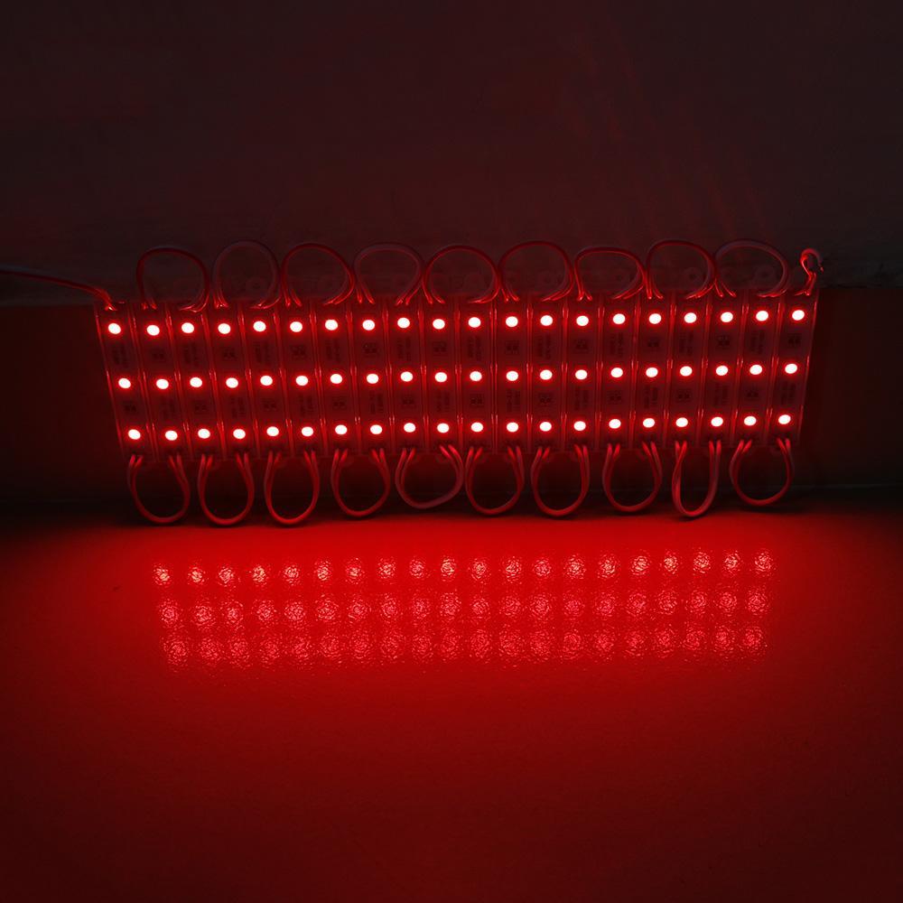 SMD 5050 LED وحدات للماء IP65 بقيادة وحدات DC12V SMD 3 المصابيح أدى توقيع الإضاءة الخلفية للرسائل قناة دافئ / بارد الأبيض الأحمر الأزرق