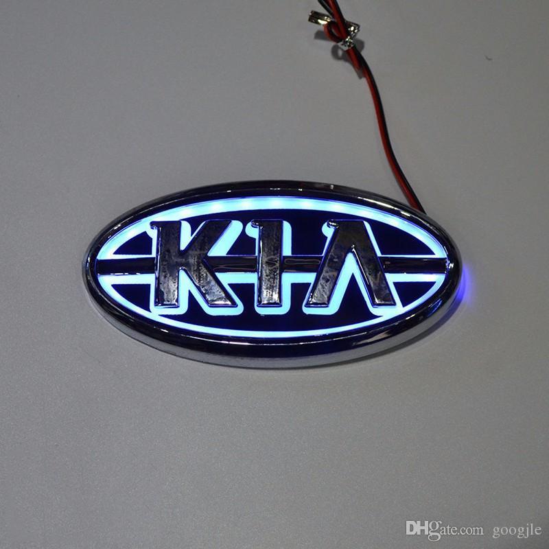 Стайлинг автомобилей 11,9 см * 6,2 см 5D задний значок лампочки эмблема логотип светодиодный свет наклейки для Kia K5 / Sorento / Soul / Forte / Cerato / Sportage / Rio