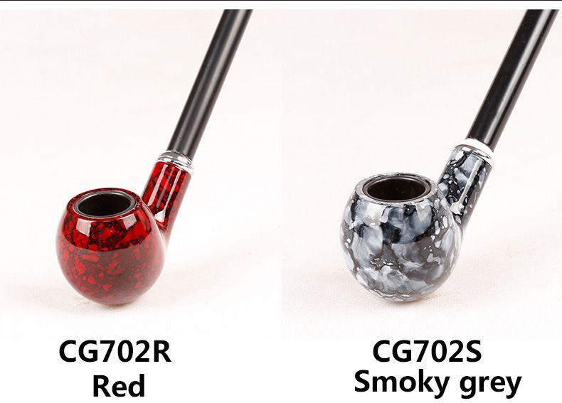 Fashion Color Long Smoking Pipes 41cm Metallo acrilico Materiale confezione regalo fumatori 5 TIPI i Rosso / Grigio fumo / Colore legno