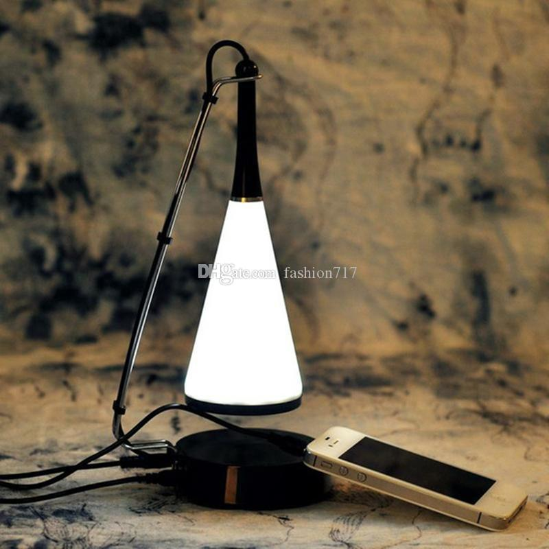 Portable wireless bluetooth Speaker LED desk lamp touch sensor table lights dimmable night light USB charged Aux. audio input