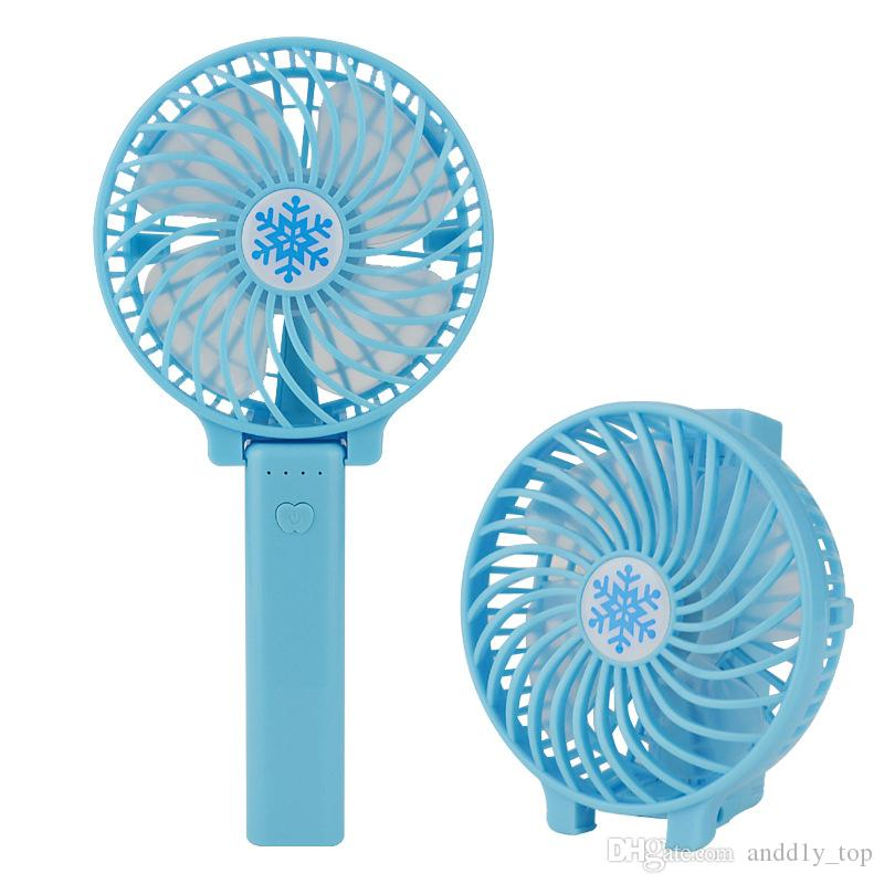 Handy Usb Fan Foldable Handle Mini Charging Electric Fans Snowflake Handheld Portable For Home Office Gifts