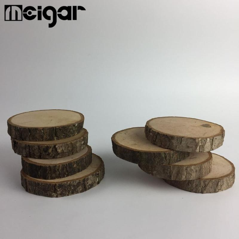 2019 Wholesale Round Wooden Slices Natural Wood Chips