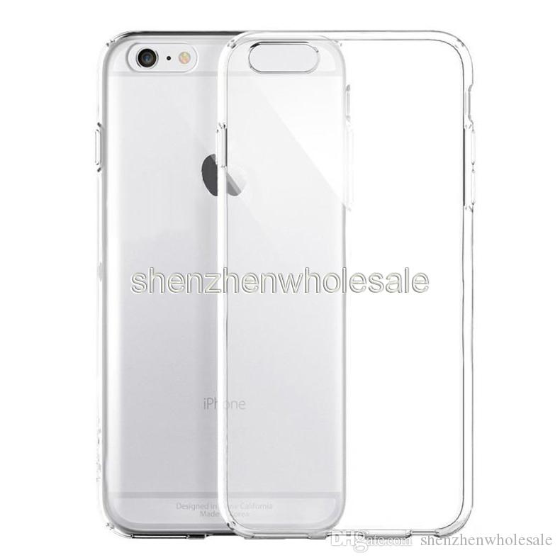 For IPhone X 10 8 7 Plus TPU Case Clear TPU 0.3MM Ultra Thin Samsung Galaxy S8 Plus Note8 Back Soft Cover