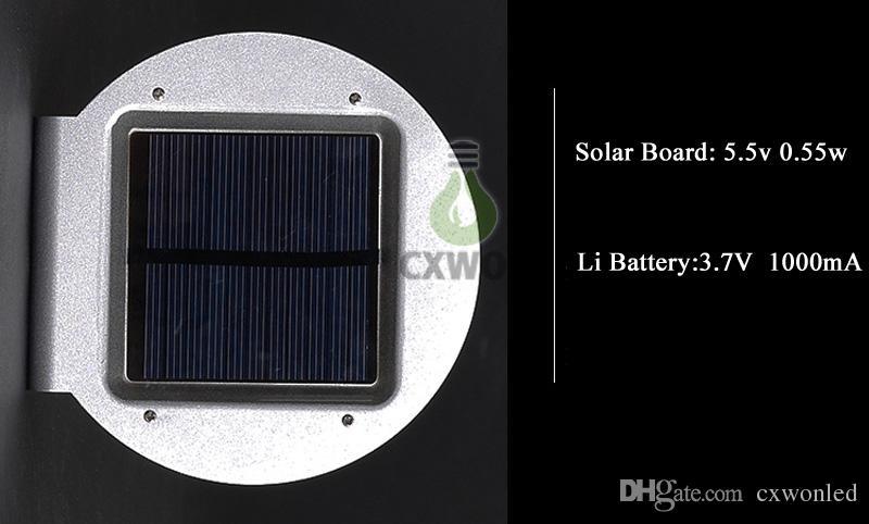 2018 neue LED Solar Wandleuchte Outdoor Garten LED Licht Solar Power Radarwellensensor Wasserdichte Hof Straßenlaterne 16 LED Heißer Verkauf