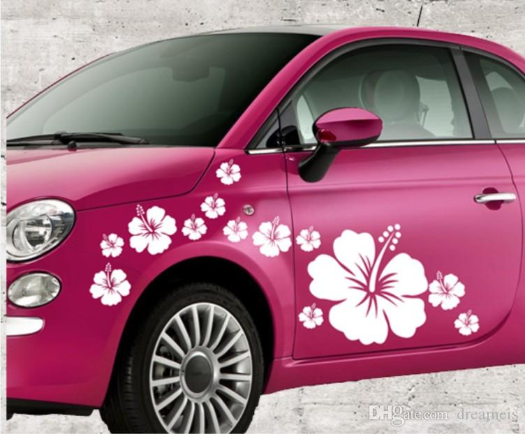 Flower Graphic Vinyl Art Wall Stickers Car Body Sticker Waist Line - Auto graphic stickersdiscount auto graphic decalsauto graphic decals on sale at