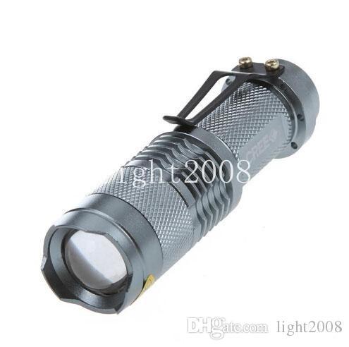 5 Renkler Flaş Işığı 7 W 300LM CREE Q5 LED Kamp El Feneri Torch Ayarlanabilir Odak Yakınlaştırma su geçirmez fenerleri Lamba