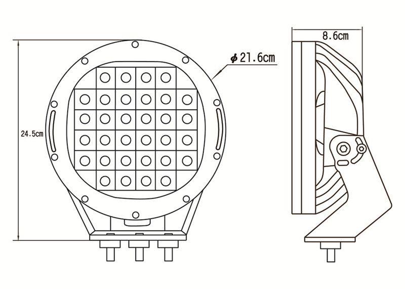 Araba LED far dış sis lambası 63 W LED ÇALIŞMA IŞIĞI BAR off-road modifikasyon spot far ATV kamyon Forklift Tekne tankı