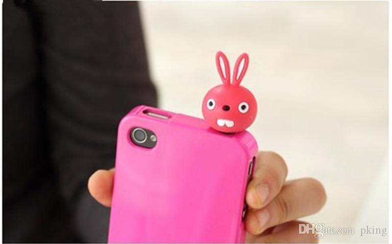 3.5mm Earphone Anti Dust Plug Cap Stopper 3D Cute Animal Bear Rabbit Cat Pig for iPhone 7 7S Samsung HTC Nokia iPad