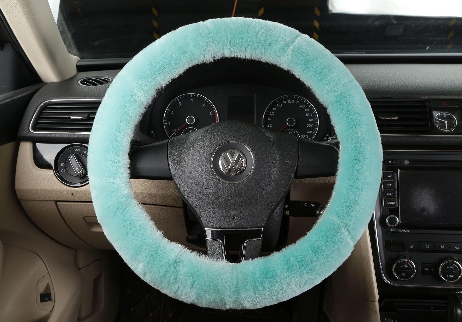 2016 winter steering wheel cover for bmw e90 320 318i 320i 325i 330i 320d x1 car special black purple orange genuine wool car covers peterbilt steering
