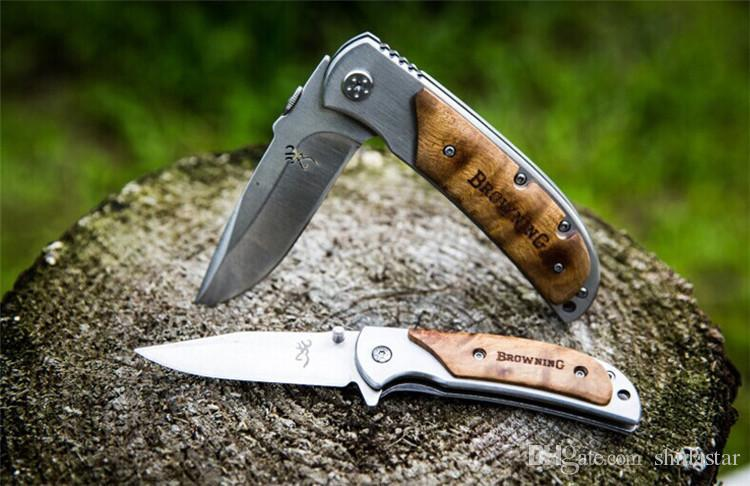 Collection Browning 337 338 339 Small Pocket Folding Knives 440C 57HRC Tactical Camping Hunting Survival EDC Tools Wood Handle Utility Tools