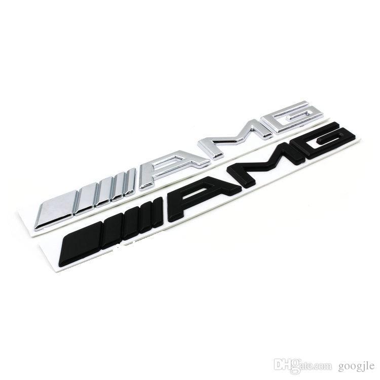 3D ABS Auto Logo 3M AMG Brief Abzeichen Aufkleber Für Mercedes MB CL GL SL ML Eine SLK B C E S Klasse Silber Schwarz Hohe qualität