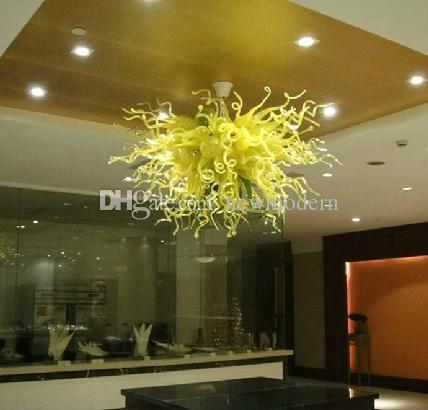 Led Source 100% Hand Blown Borosilicate Glass Dale Chihuly Murano Art Conference Low Cost Crystal Chandeliers