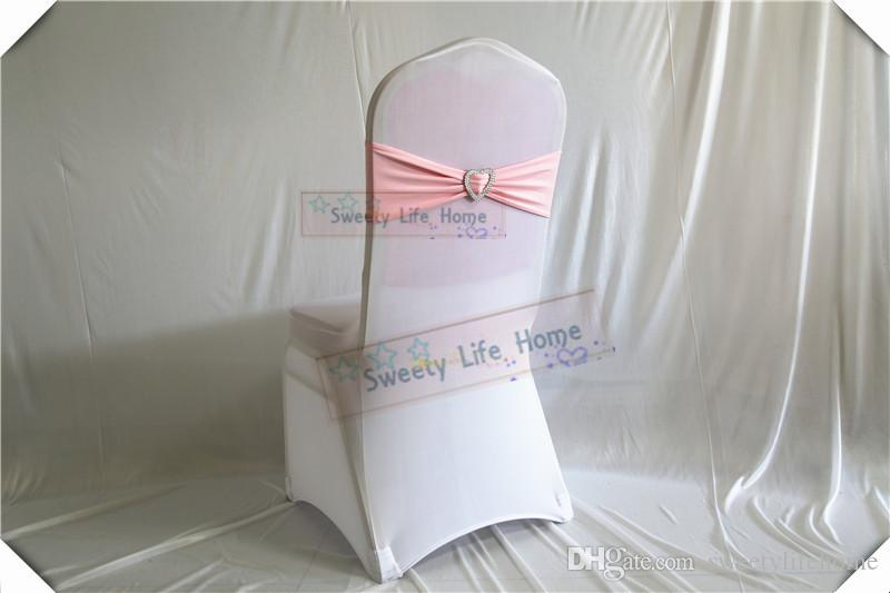 Sky blue color Chair Bands banquet Spandex Chair Sash Stretch Lycra chair bows with sillver Heart buckle