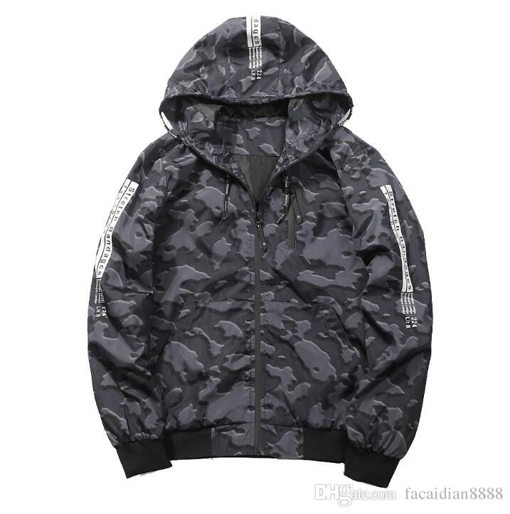 2018 Fashion Hi-Street Mens stile militare MA1 Bomber yeezus giacca Hip Hop bianco Mens Slim Fit Varsity Baseball giacca sportiva esterna