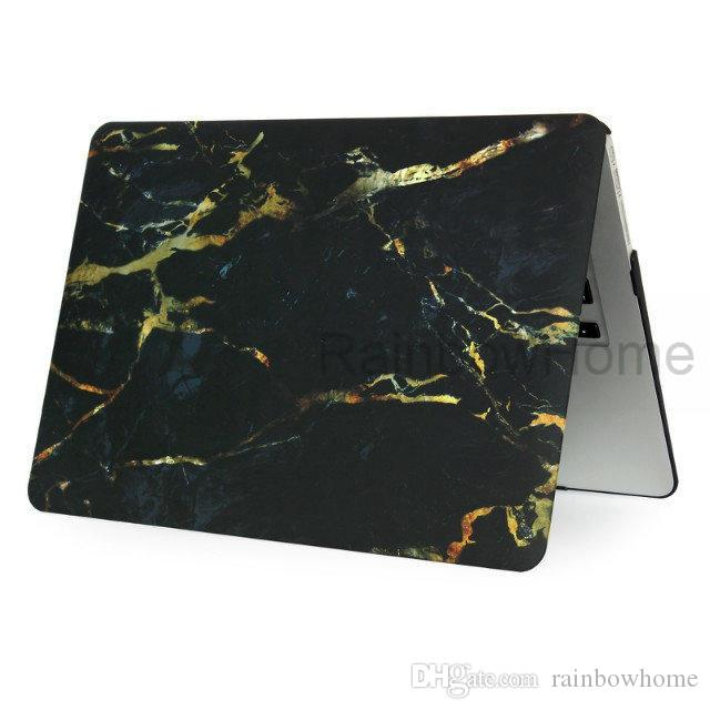 Plastic Case Cover Water Decal Protective Shell for Macbook Air Pro Retina 11 12 13 15 inch Laptop PC Marbling Cases New Style