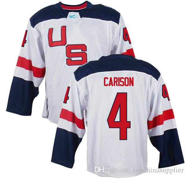 Men's Team USA #8 Joe Pavelski White 2016 World Cup of Hockey Game Jersey