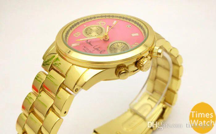 20%off Fashion M brand wristwatches men women luxury Gold stainless steel wrist Relojes Business fashion quartz watch movement silver Watch