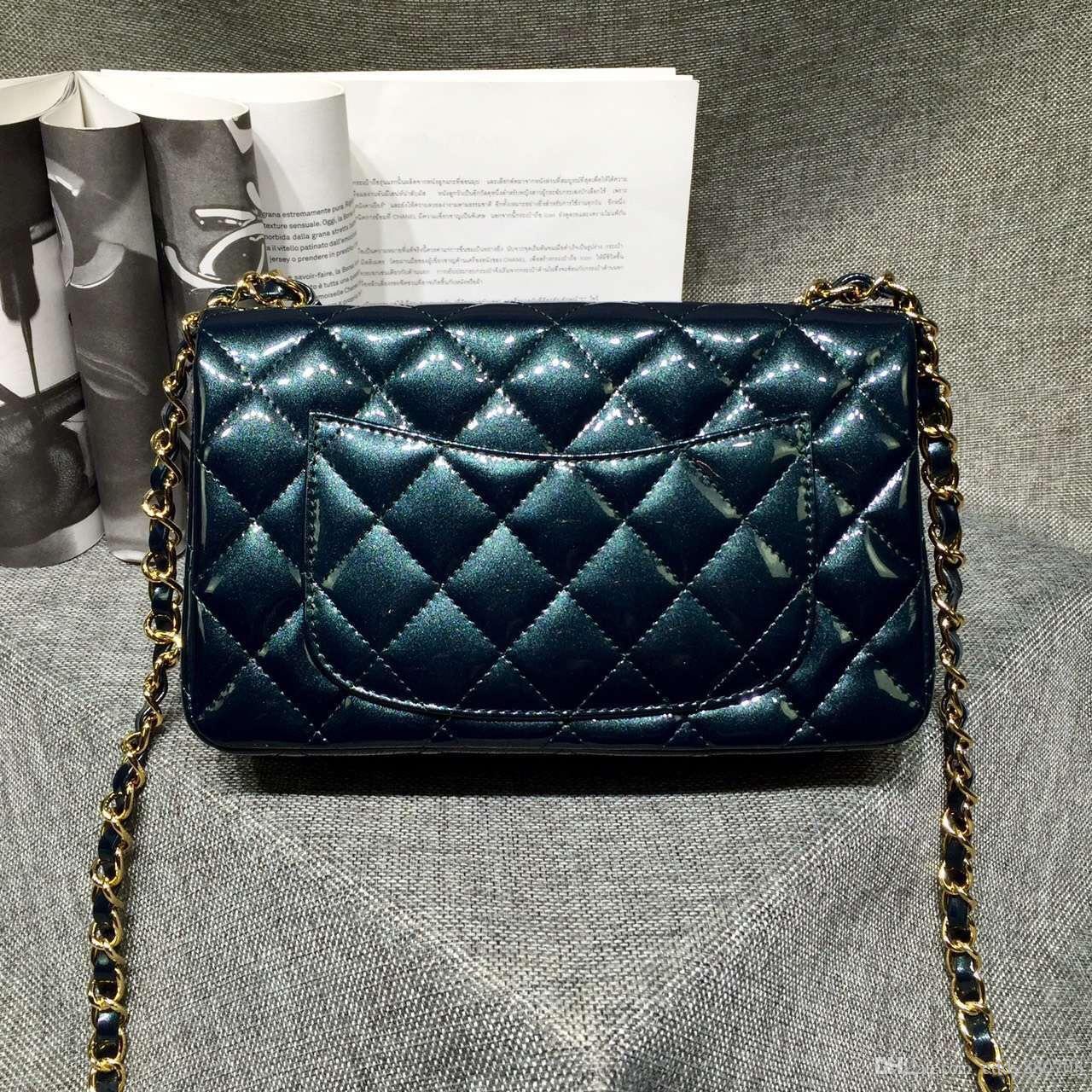 45ba3b93259197 Dark Green Small Classic Cf Patent Lambskin Diamond Lattice Flap Bag  Handbag Mens Bags Messenger Bags For Women From Eddy880708, $345.18|  DHgate.Com