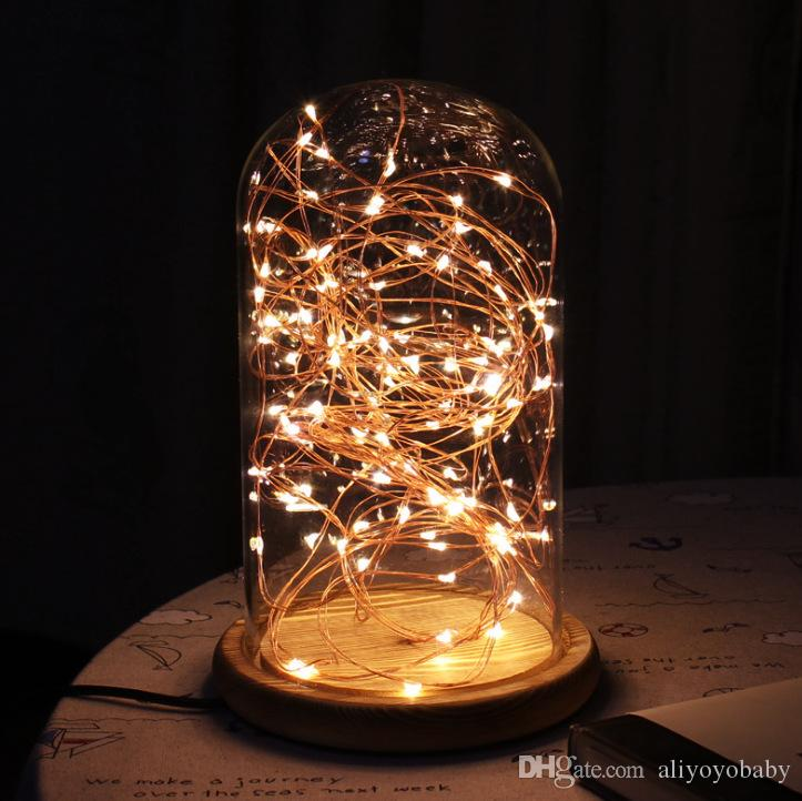 2017 Christmas Lights Creative Desk Lamp Glass Dome Light Star Light  Romantic Atmosphere Decorative Lamp Warm White From Aliyoyobaby, $33.2 |  Dhgate.Com