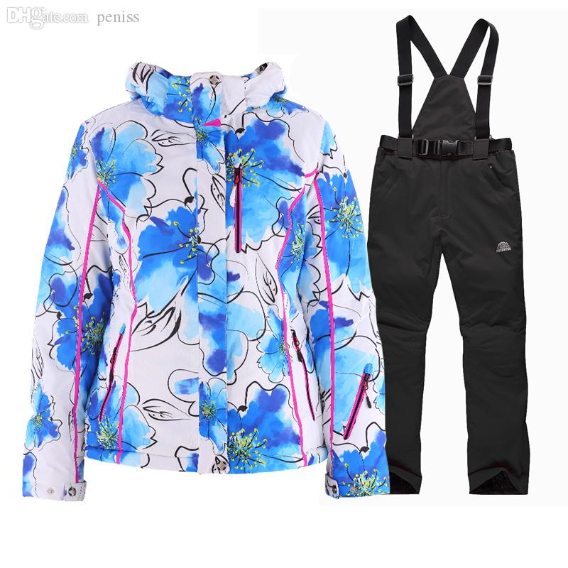 3548170077 2019 Wholesale 2016Winter Womens Skiing Jackets+Warm Pants Windproof  Rainproof Breathable Women Fashion Ski Suit Outdoor Jacket Winter Clothes  From Peniss