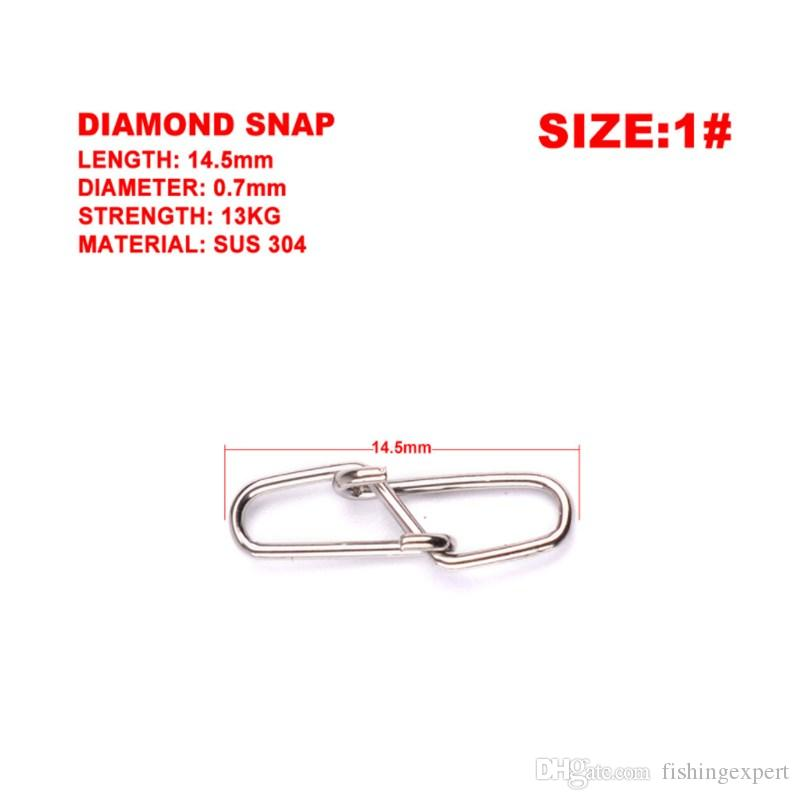 0#-6# Rhombic Fishing Pin or Fishing Swivel Snap Sewing Kits and Stainless Steel Fishhook Lure Fishing Tackle Combo