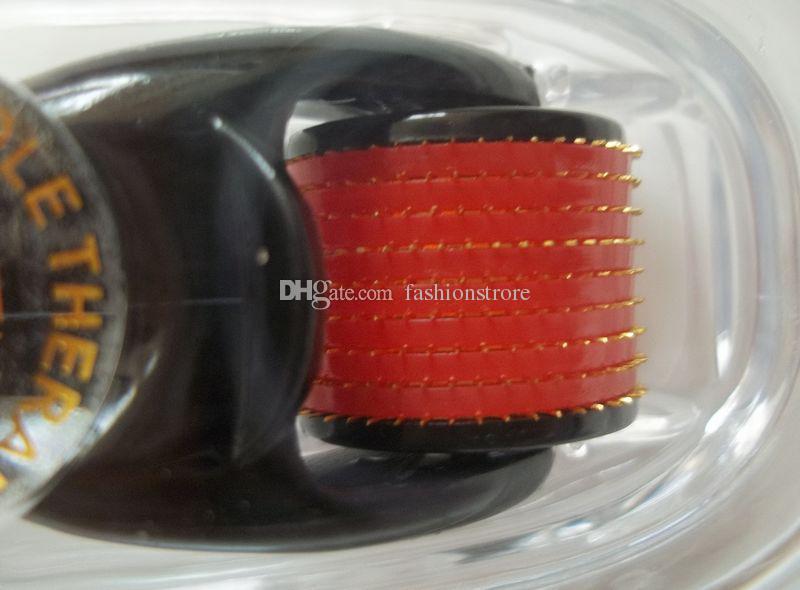티타늄 마이크로 바늘 스킨 롤러 540 바늘 대머 흉터, 셀룰 라이트 스킨 케어 얼굴 롤러 장치