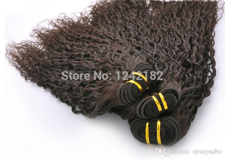 I capelli umani vergini brasiliani brasiliani non trattati del grado 7a tessono i capelli neri naturali 100g / pc 8