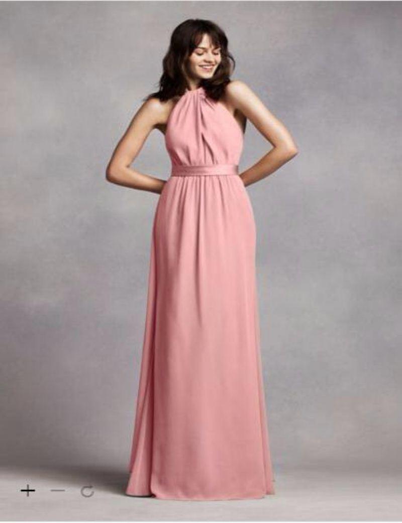 Compre 2016 Gasa Cabestro Palabra De Longitud Vestidos De Dama De ...