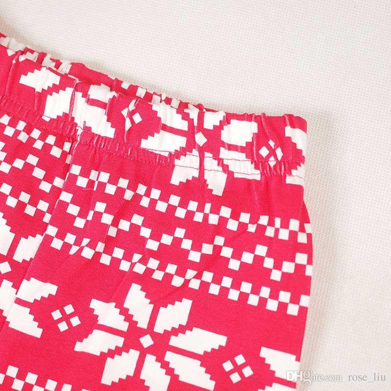 Niño niña Christmas elk raya pijamas conjuntos DHL 2016 nuevos niños Algodón raya de dibujos animados manga larga + pantalones trajes bebé ropa B