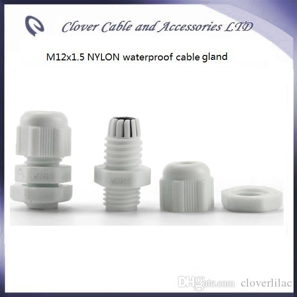 Hot Sale IP68 Waterproof Nylon M12x1.5 Cable Joint Cable Connector