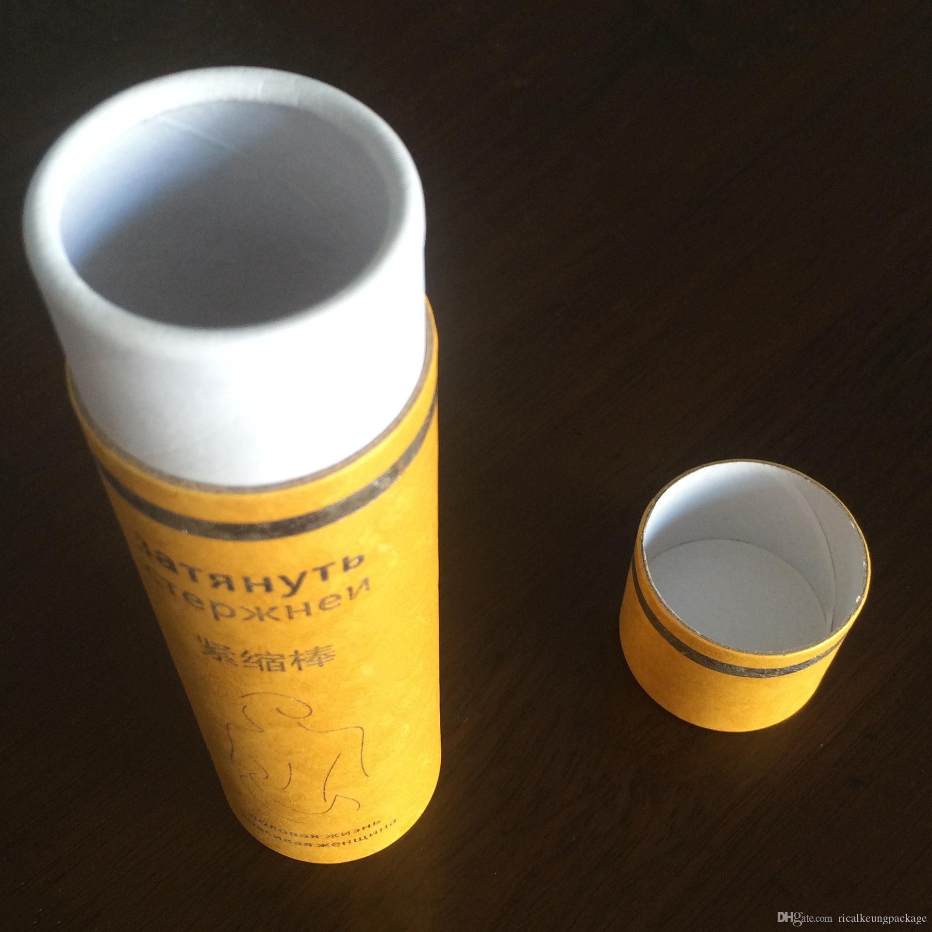 Tubo de papel kraft artesanal de alta qualidade com tamanho personalizado e impressão