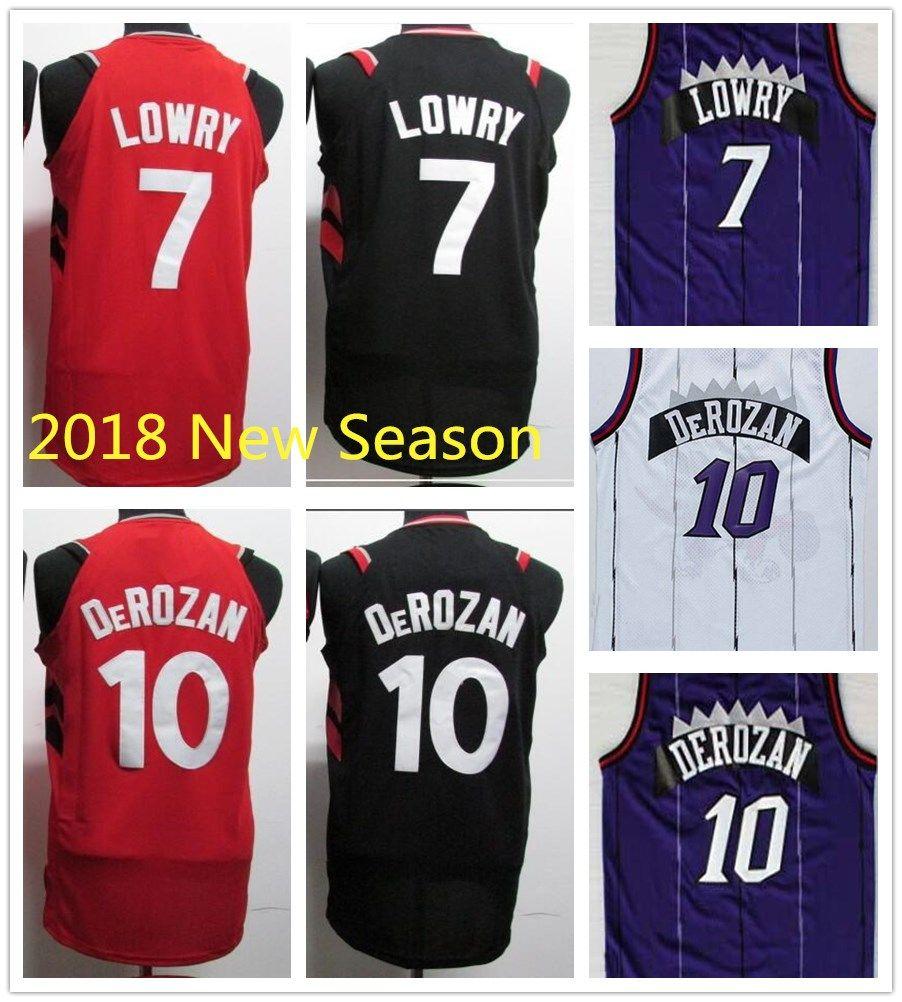 e4e0b600a42 toronto raptors jersey 7 kyle lowry revolution 30 swingman new black jerseys;  2018 season new style 10 demar derozan jersey red white 7 kyle lowry ...