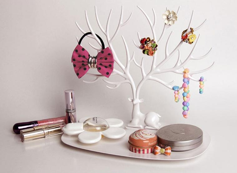 My Little Deer Tray Jewelry Accessories Tree Necklace Earring Ring Watch Key Stuff Organizer Jewelry Display Stand Wedding Decoration Favors