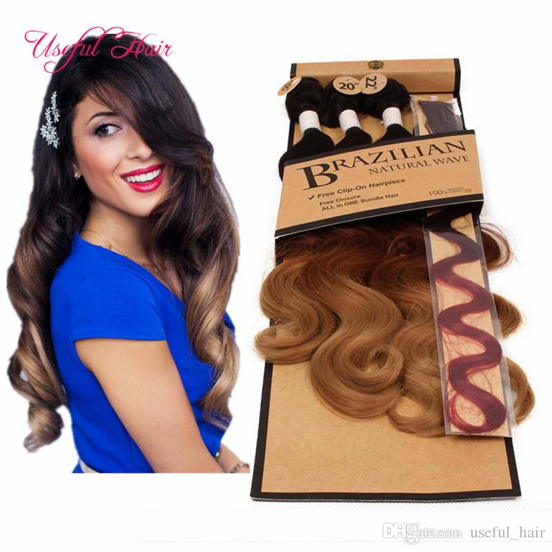 2018 Double Weft Extensions Body Wave Hair Weaves 220gram Synthetic