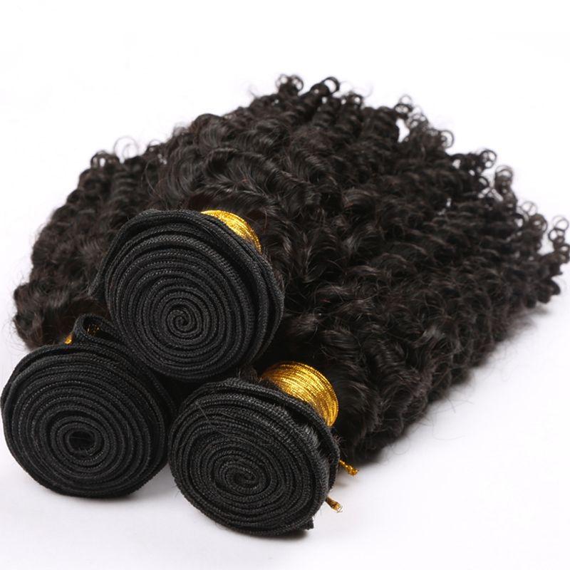 4x4 실크베이스 클로저로 처리되지 않은 말레이시아 변태 곱슬 머리카락 로트 버진 말레이시아 실크 맨 클로저 인간의 머리카락 번들로