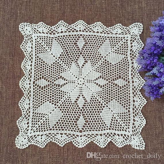 New Crochet Pattern Square Table Cover , Nice Nightstand Cabinet Topper, Square  Tablecloth For Home Decor Size: 45x45cm Square Table Cover 120 Round ...